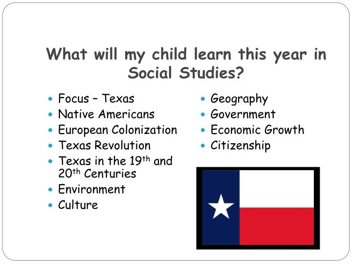 What will my child learn this year in Social Studies?