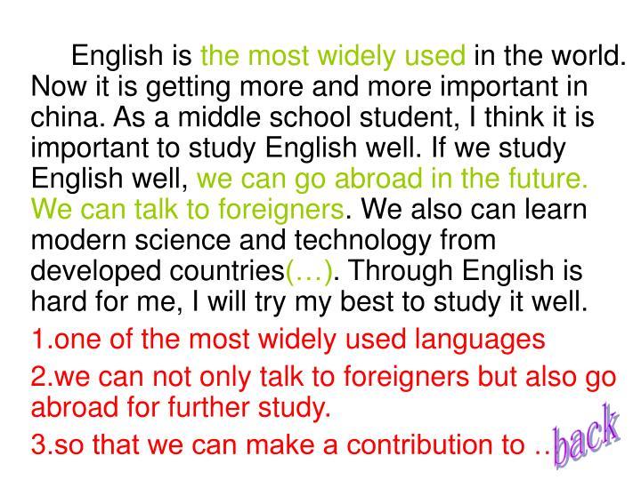 English is