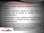 good governance mandates