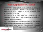 non applicability contd