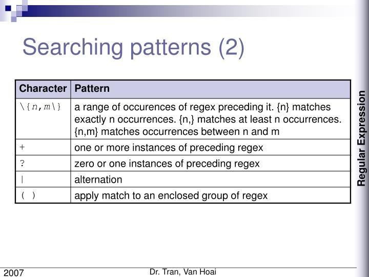 Searching patterns (2)