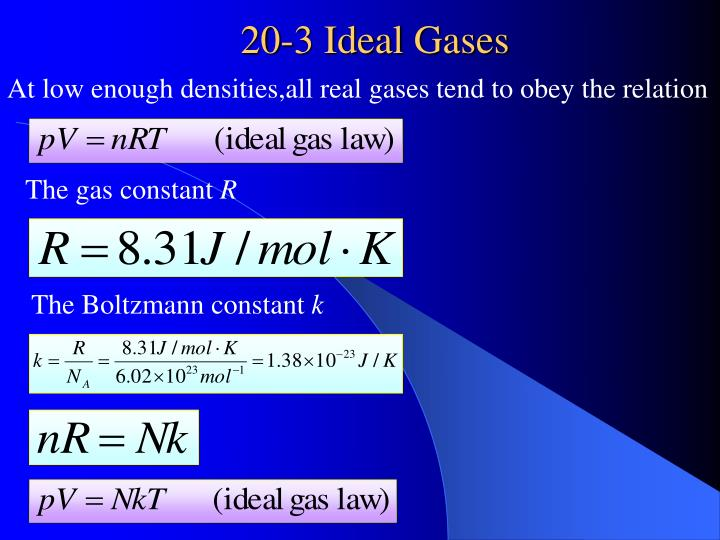 20 3 ideal gases