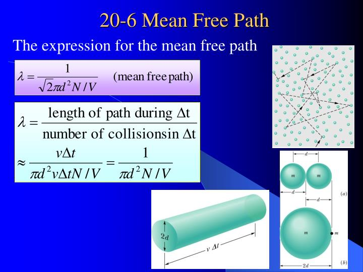 The expression for the mean free path