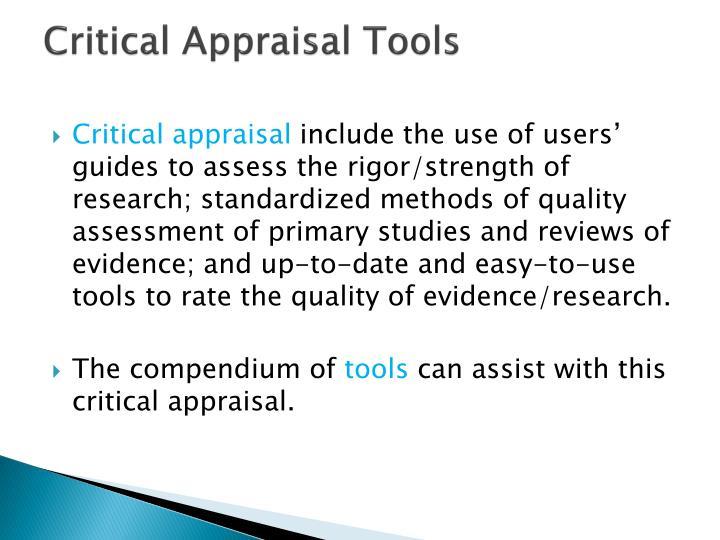 Critical Appraisal Tools
