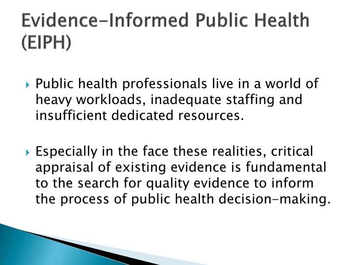 Evidence informed public health eiph