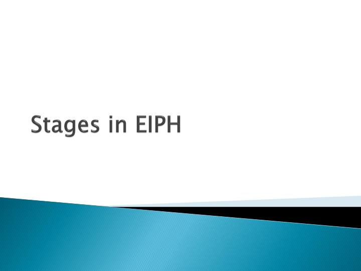 Stages in EIPH