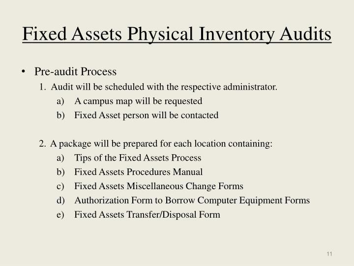 ppt fixed assets internal procedures 2008 2009 powerpoint