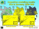 deposition modelling results sox in germany 1990 1999