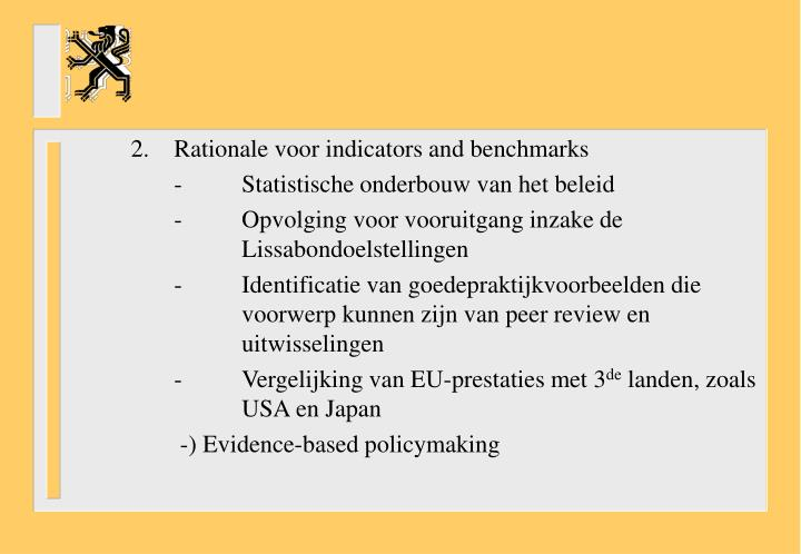 2.Rationale voor indicators and benchmarks