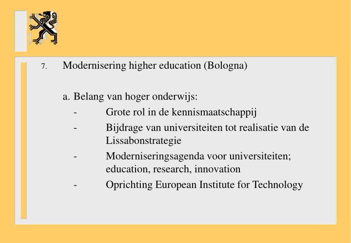 Modernisering higher education (Bologna)