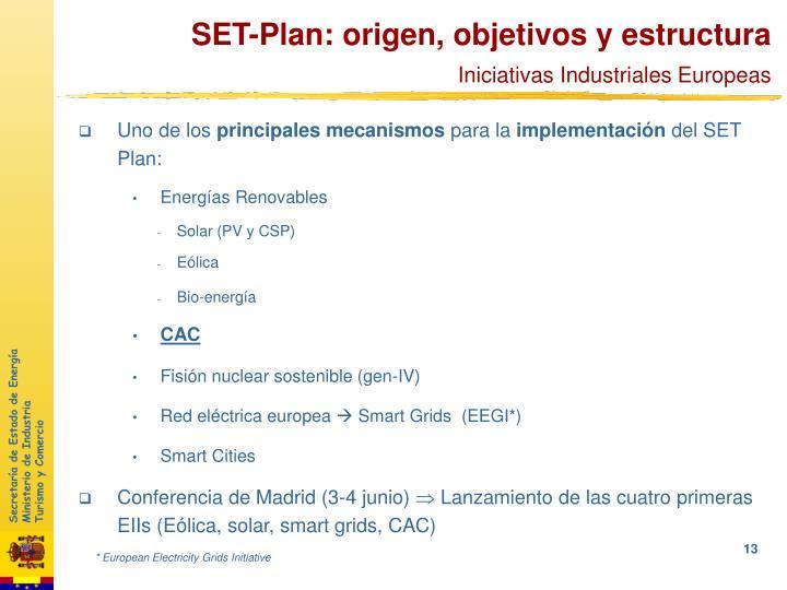 SET-Plan: origen, objetivos y estructura