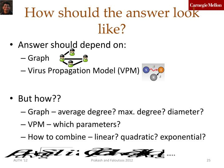 How should the answer look like?