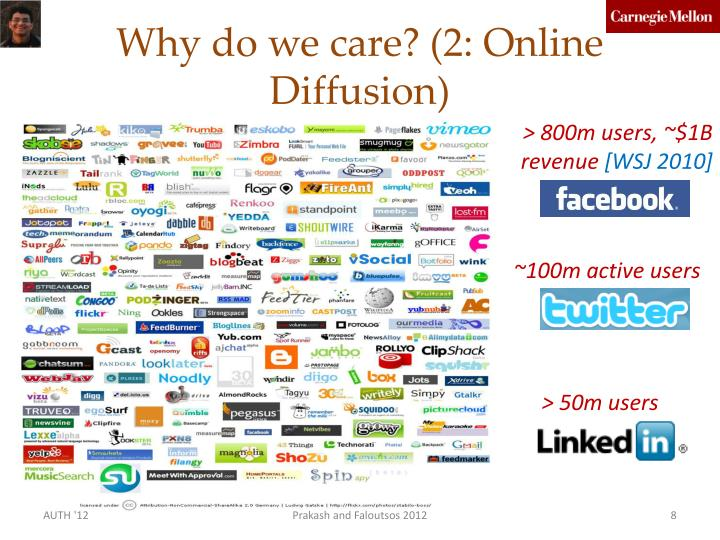 Why do we care? (2: Online Diffusion)