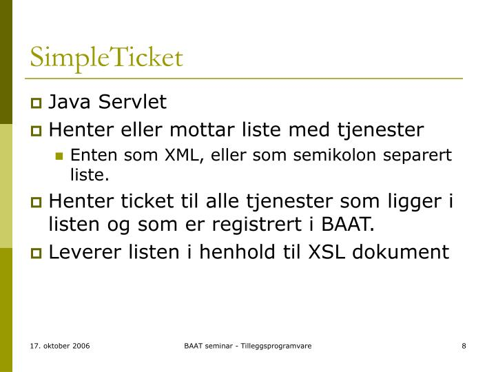 SimpleTicket