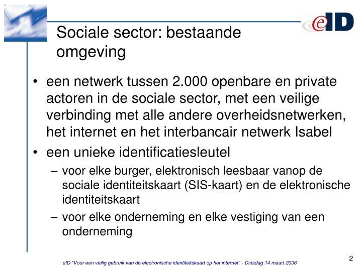 Sociale sector bestaande omgeving