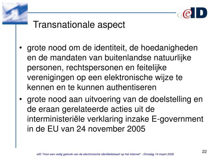 Transnationale aspect