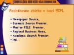 podatkovne zbirke v bazi eifl
