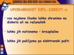 uporabnost eifl direct a