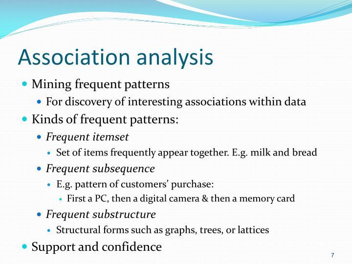 Association analysis