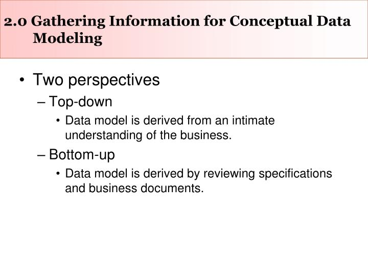 2 0 gathering information for conceptual data modeling