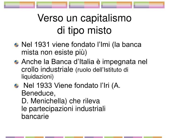 Verso un capitalismo