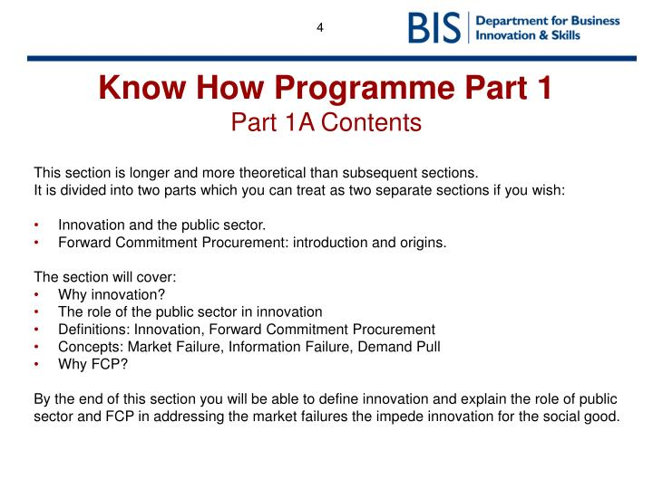 Know How Programme Part 1