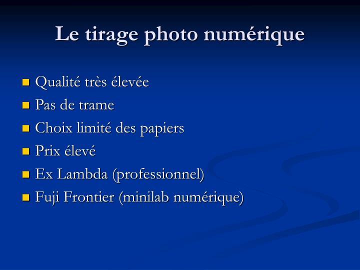 Le tirage photo numérique