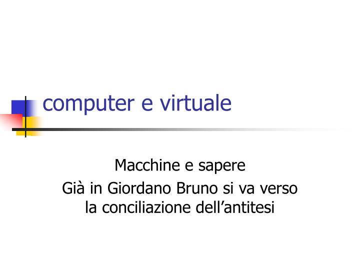 computer e virtuale