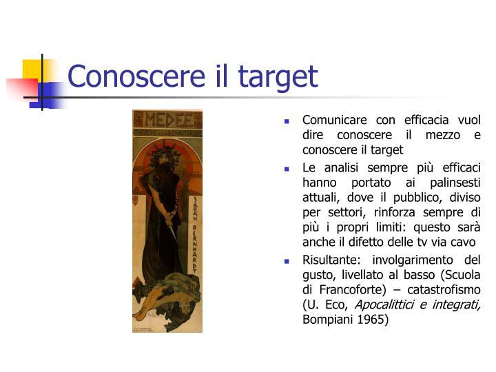 Conoscere il target
