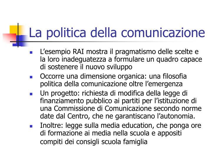 La politica della comunicazione