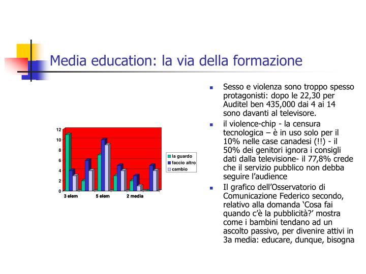 Media education: la via della formazione