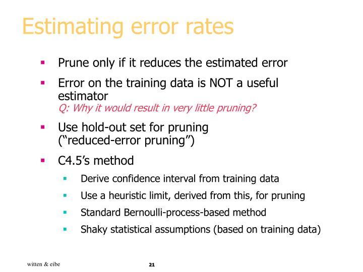 Estimating error rates