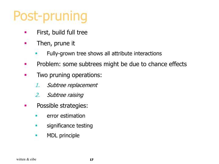 Post-pruning
