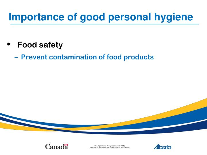 the importance of good personal hygiene