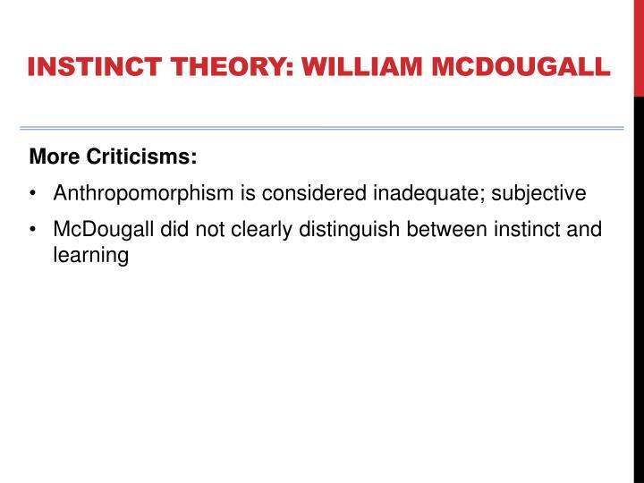 mcdougall instinct theory