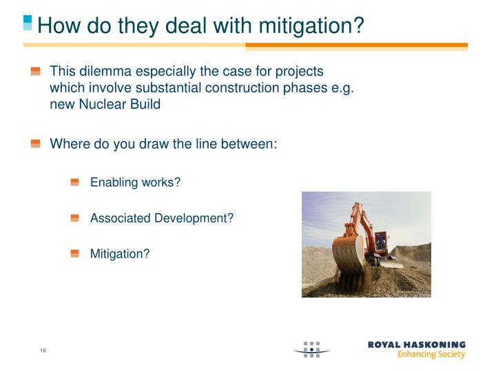 How do they deal with mitigation