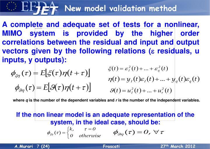 New model validation method