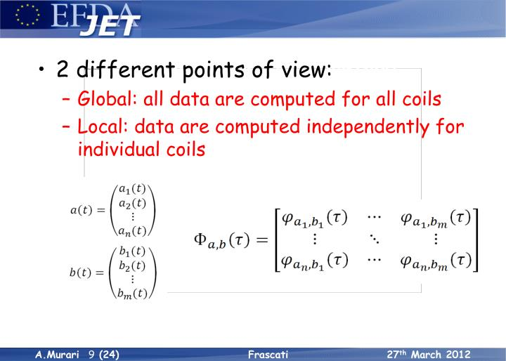 The correlation tests method