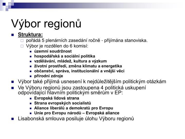 Výbor regionů