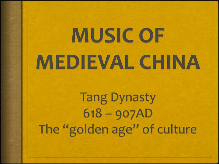 music of medieval china n.