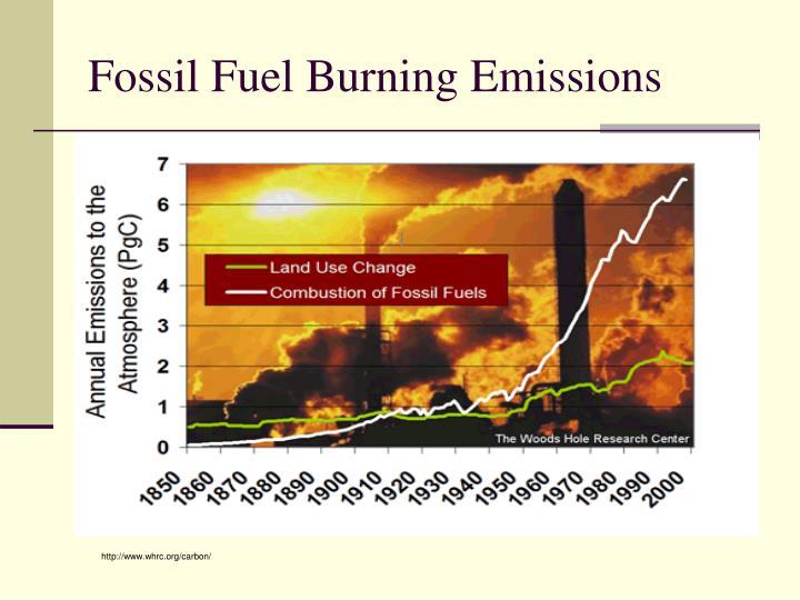 Fossil Fuel Burning Emissions