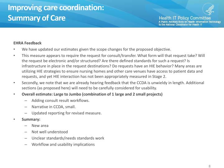 Improving care coordination: