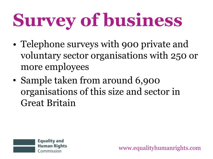 Survey of business