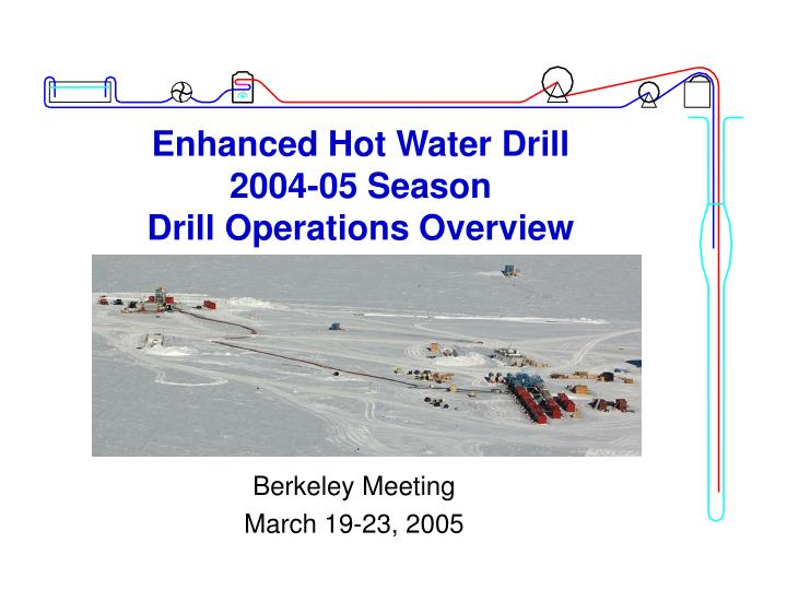 enhanced hot water drill 2004 05 season drill operations overview n.