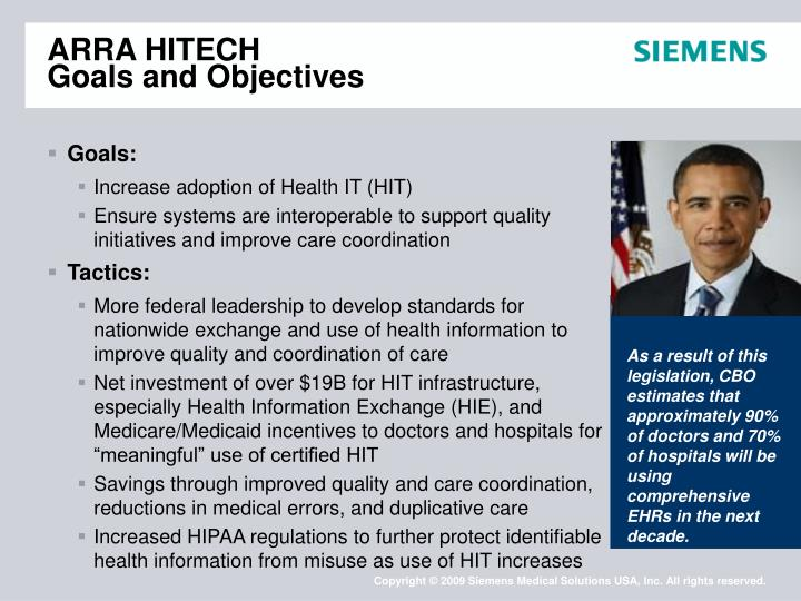 Arra hitech goals and objectives