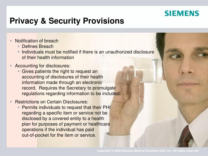 Privacy & Security Provisions