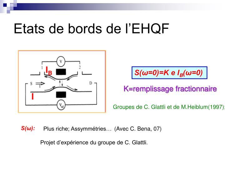 Etats de bords de l'EHQF