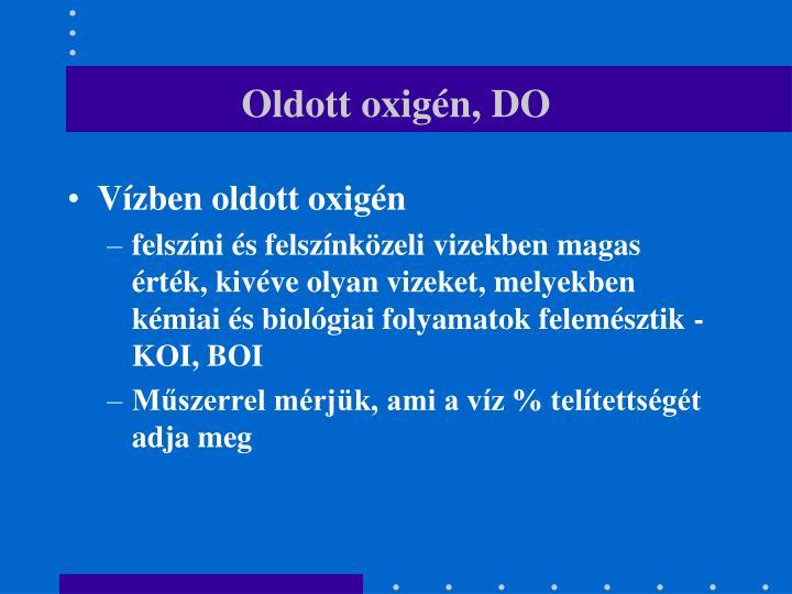 Oldott oxigén, DO