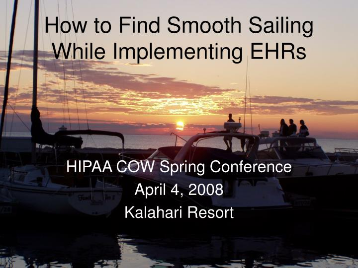 how to find smooth sailing while implementing ehrs n.