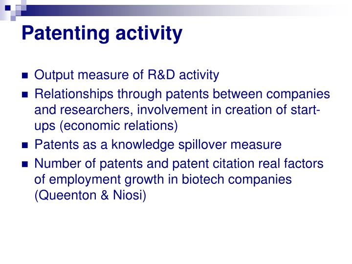 Patenting activity